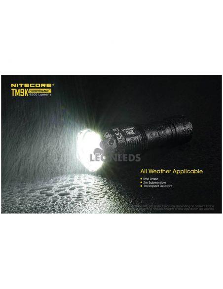 Linterna de Mano Nitecore TM9K 9500Lm Turbo Ready | resistente a la lluvia | LeonLeds Iluminación