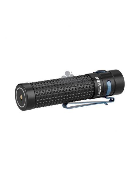 Linterna de mano S2R II Baton 1150Lm recargable olight negra | 5 niveles de brillo | LeónLeds Iluminación