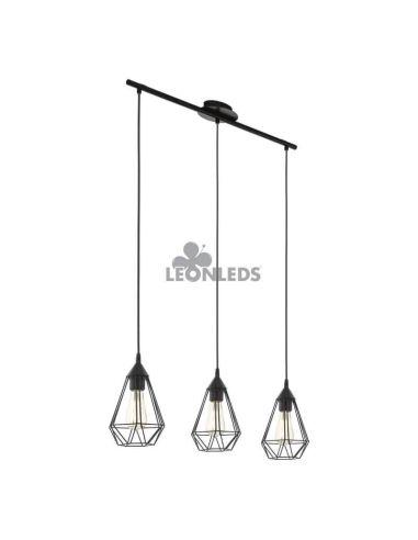Lámpara de techo metálica vintage Tarbes 1XE27 | lámpara colgante vintage de metal de Eglo Lighting | LeonLeds Iluminación