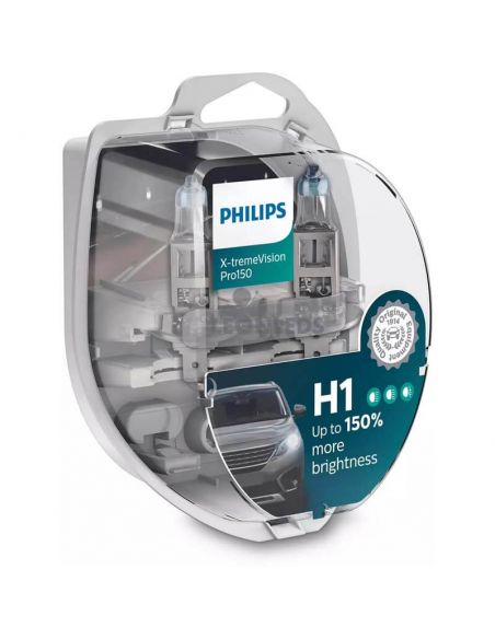 Bombillas H1 X-tremeVision Pro150% Philips | LeonLeds