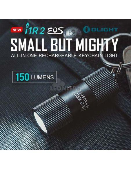 Linterna llavero LED I1R 2 EOS 150Lm negra   mini muy pequeña   LeónLeds Iluminación