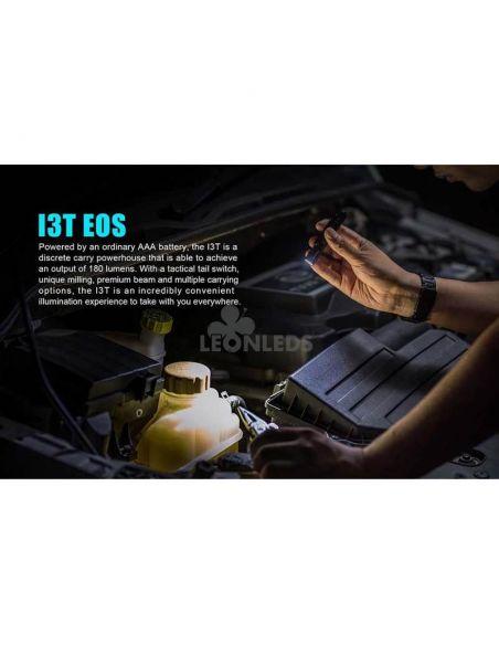 Linterna táctica LED I3T EOS 180Lm negra | para leer | LeónLeds Iluminación