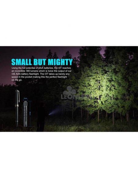Linterna táctica LED I3T EOS 180Lm negra | ligera | LeónLeds Iluminación
