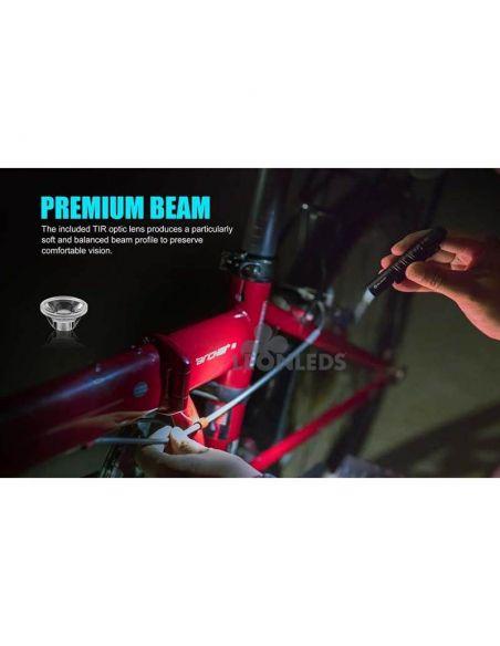 Linterna táctica LED I3T EOS 180Lm negra | inspección maquinaria | LeónLeds Iluminación