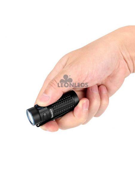 Linterna de bolsillo LED S1R Baton 2 1000Lm negra | tamaño palma mano| LeónLeds Iluminación