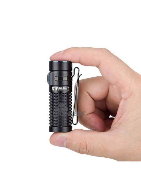 Linterna de bolsillo LED S1R Baton 2 1000Lm negra | tamaño mano| LeónLeds Iluminación