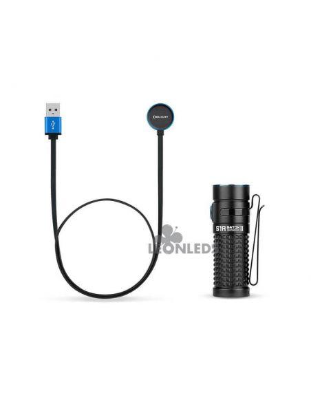 Linterna de bolsillo LED S1R Baton 2 1000Lm negra | incluye cargador| LeónLeds Iluminación