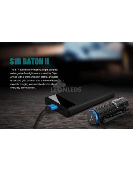 Linterna de bolsillo LED S1R Baton 2 1000Lm negra | cargador usb| LeónLeds Iluminación