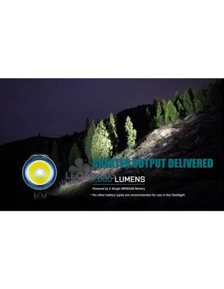 Linterna de bolsillo LED S1R Baton 2 1000Lm negra | montaña | LeónLeds Iluminación