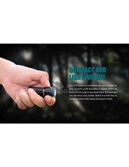 Linterna de bolsillo LED S1R Baton 2 1000Lm negra | expediciones | LeónLeds Iluminación
