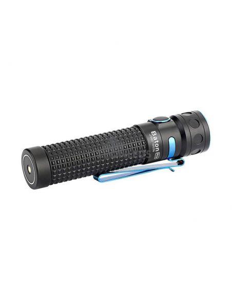 Linterna de mano LED EDC Baton PRO 2000Lm negra | textura 3D | LeónLeds Iluminación