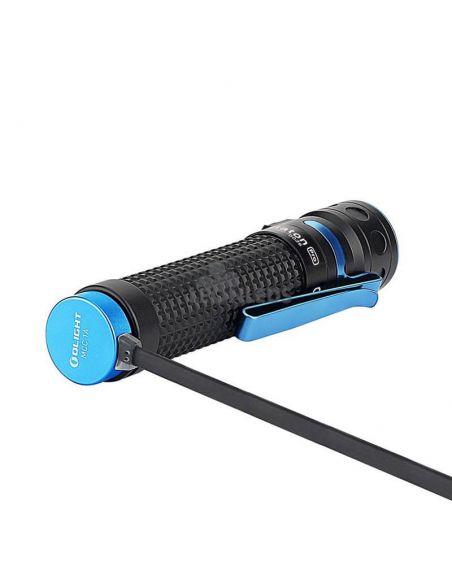 Linterna de mano LED EDC Baton PRO 2000Lm negra | batería 18650 | LeónLeds Iluminación