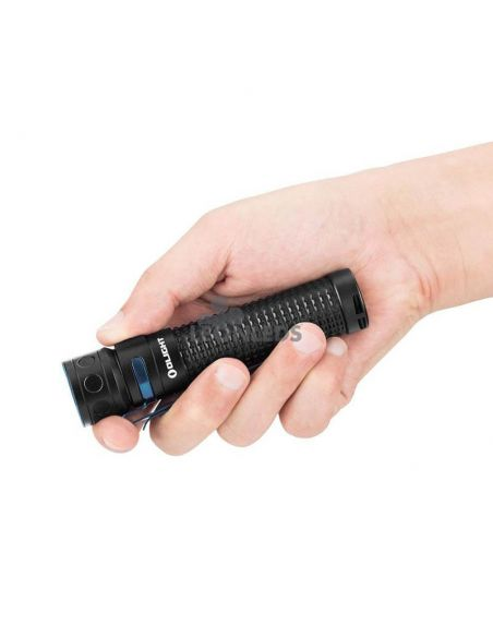 Linterna de mano LED EDC Baton PRO 2000Lm negra | 132 metros alcance | LeónLeds Iluminación