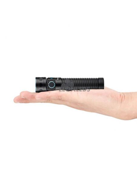 Linterna de mano LED EDC Baton PRO 2000Lm negra | 9 días autonomía | LeónLeds Iluminación