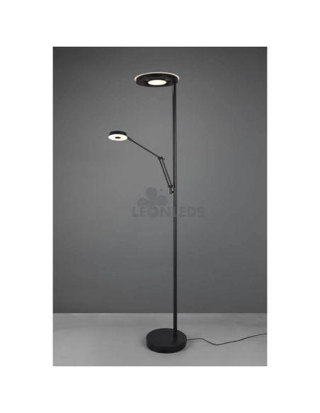 Lámpara de pie con intensidad regulable Barrie Trio Lighting | interruptor externo | León Leds Iluminación