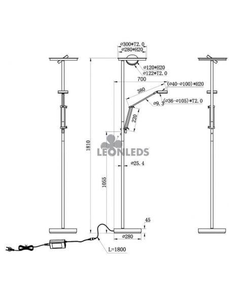 Lámpara de pie con intensidad regulable Barrie Trio Lighting | instalación | León Leds Iluminación