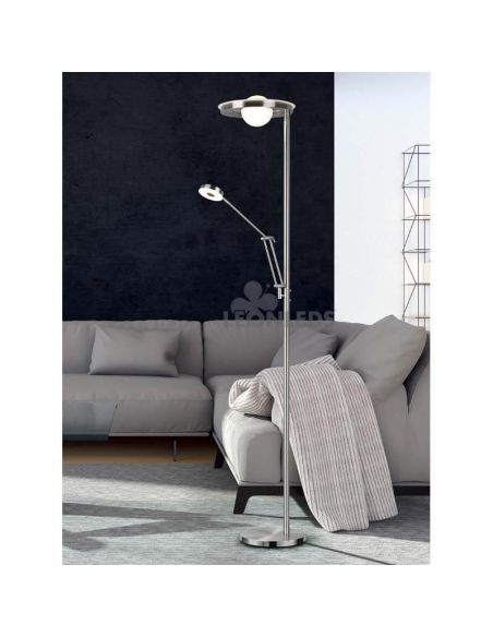 Lámpara de pie LED dos brazos Barrie Trio Lighting   interruptor externo   León Leds Iluminación