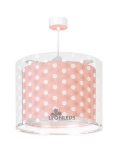 Lámpara colgante 3 luces infantil Rosa Dots 41002S | LeónLeds Iluminación