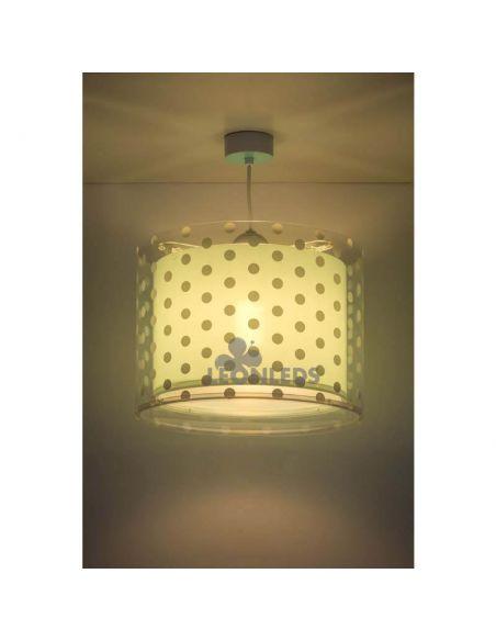 Lámpara de techo infantil Turquesa Dots 41002H | LeónLeds Iluminación