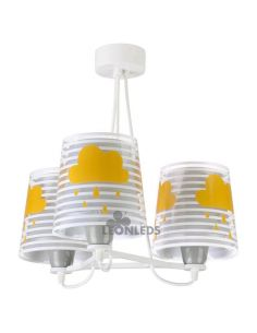 Lámpara colgante 3 luces infantil Gris Light Feeling 81197E   LeónLeds Iluminación