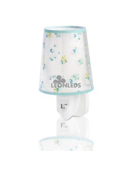 Luz de noche LED Turquesa Dream Flowers Dalber 81175H | LeónLeds Iluminación