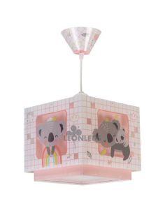 Lámpara de Techo Rosa  cuadrada Koala 63262S| LeonLeds Iluminación