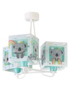Lámpara colgante 3 luces Verde Koala 63267H| LeonLeds Iluminación