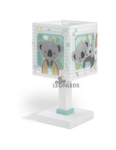 Lámpara de mesa Verde Koala Dalber 63261H| LeonLeds Iluminación