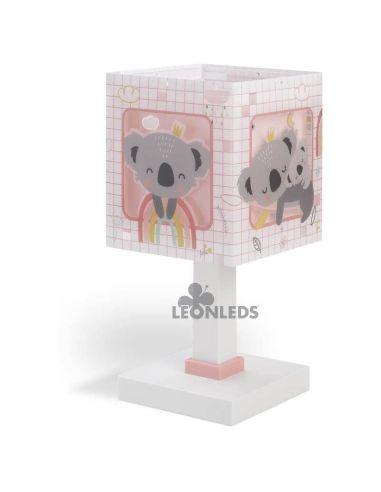 Lámpara de mesa infantil rosa Koala 63261S Dalber | LeónLeds Iluminación