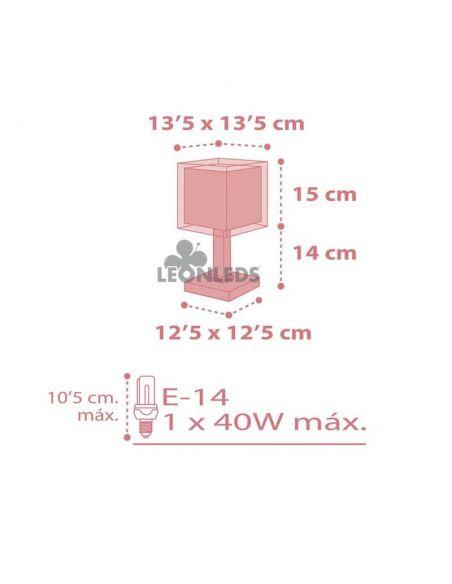 Dimensiones Lámpara de mesa infantil rosa Koala 63261S Dalber | LeónLeds Iluminación