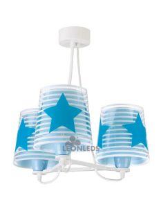 Lámpara colgante 3 luces infantil Azul Light Feeling 81197T | LeónLeds Iluminación