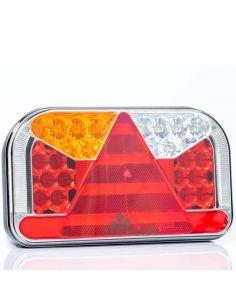 Piloto Trasero LED con triangulo con conector 5 Pin Bajonet 6 Funciones FT-170 Fristom | LeonLeds