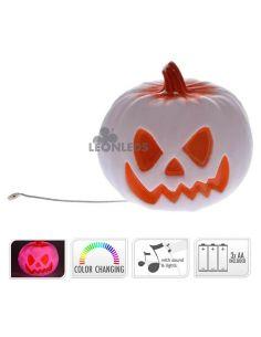 Calabaza  blanca Halloween con luz y sonido de Halloween | LeónLeds Iluminación