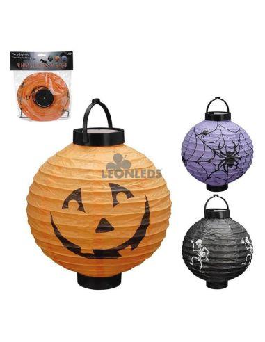 Linterna Led de papel con diseños de Halloween | LeónLeds Iluminación