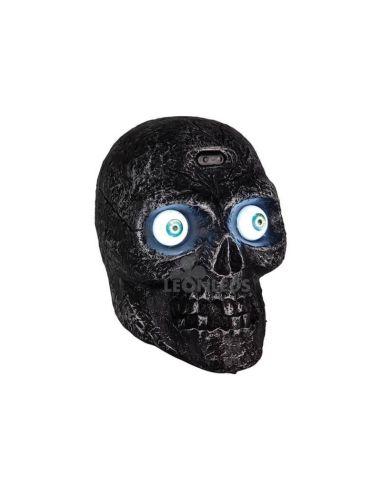 Calavera Halloween negra con luz y sonido   LeónLeds Iluminación