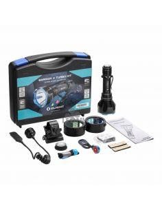 Maletin Kit de caza Linterna Warrior X Turbo LED Olight | Linterna 1100 lumenes IPX8 | León Leds Iluminación