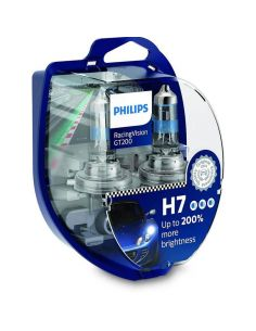 Bombillas H7 muy potentes Racingvision GT200 + de 200% de luz Philips | LeonLeds