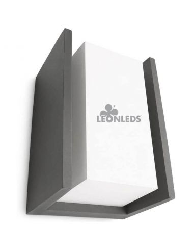 Aplique LED exterior moderno Antracita IP44 Bridge Philips | LeonLeds