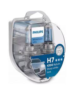 Bombillas H7 luz mas blanca Whitevision Ultra PHilips | LeonLeds Iluminación