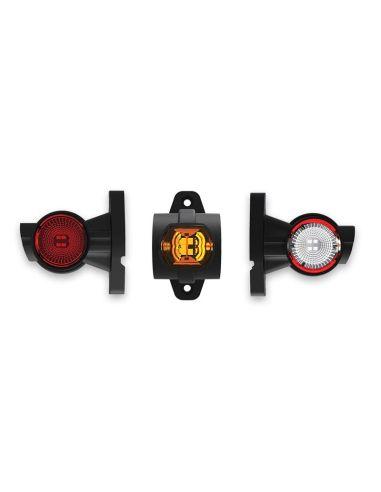 Dimensiones Cuerno Corto LED Con Cable FT-140 A - 3 Funciones Fristom | LeonLeds Iluminación