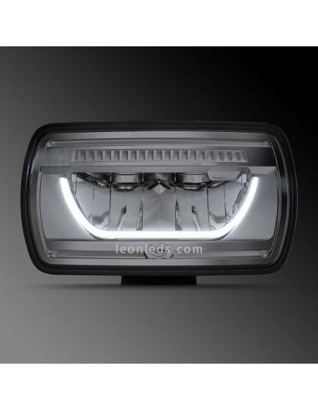 Faro delantero LED Jumbo rectangular homologado 1FE 016 773-001 Hella | LeonLeds Iluminación