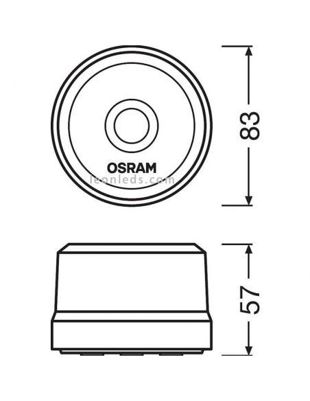 Dimensiones luz emergencia homologada dgt LEDSL102 Osram | LeonLeds