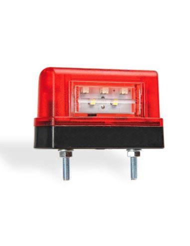 Piloto LED Matricula Negro Rojo 2 LED Homologado Luz Matricula 12v 24v Fristom FT016 FT-0176 | LeonLeds