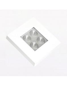 Plafón Luz Interior para Camión, Coche, Furgoneta 12v 24V LED Cuadrado Empotrable Orificio Redondo | LeonLeds