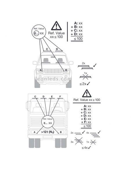 Barra LED Combo Homologada LightBar VX500-CB 72W 58,2Cm LEDDL118-CB Osram 4062172141956 | LeonLeds