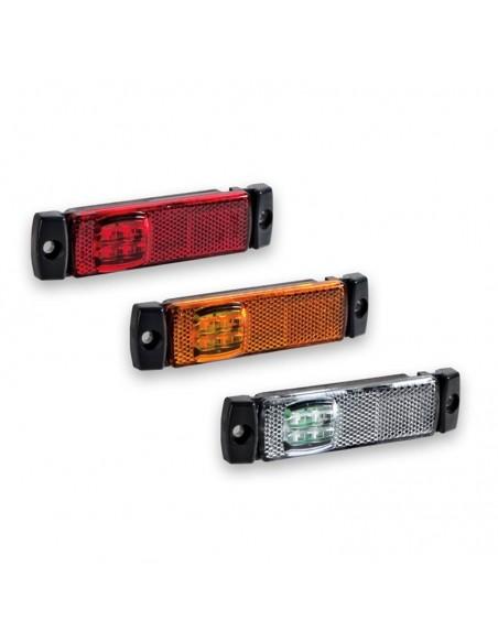 Pilotos LED Laterales Galibo delimitadoras LED 12V 24V Blanco Rojo Naranja Ftistom FT018 FT-018 | LeonLeds