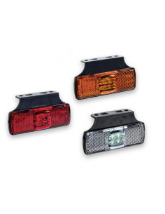 Piloto LED lateral Ambar parte trasera Rojo parte delantera rojo o parte delantera blanca reflectante Fristom FT-017 B+K | LeonL