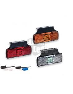 Piloto posición o Galibo LED y reflectante con soporte para Camión Remolque con conector | LeonLeds