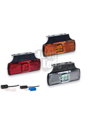 Piloto posición o Galibo LED y reflectante con soporte para Camión Remolque con conector   LeonLeds