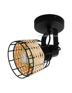 Aplique LED rattan Anwick 1 11,5Cm 1XE27 | Aplique vintage de techo de Eglo Iluminación | LeonLeds Iluminación